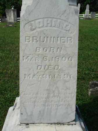 BRUNNER, JOHN G. - Fairfield County, Ohio | JOHN G. BRUNNER - Ohio Gravestone Photos