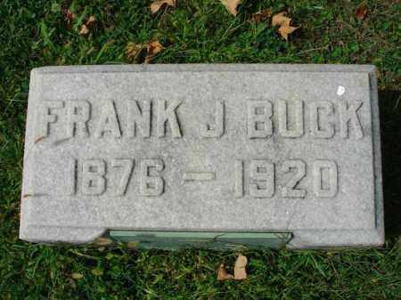 BUCK, FRANK J. - Fairfield County, Ohio | FRANK J. BUCK - Ohio Gravestone Photos