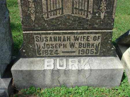 BURK, SUSANNAH - Fairfield County, Ohio | SUSANNAH BURK - Ohio Gravestone Photos