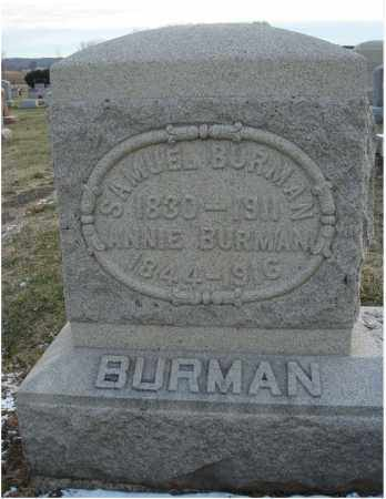 BURMAN, ANNIE - Fairfield County, Ohio | ANNIE BURMAN - Ohio Gravestone Photos