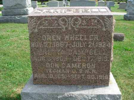 CAMPBELL, OREN WHEELER - Fairfield County, Ohio | OREN WHEELER CAMPBELL - Ohio Gravestone Photos