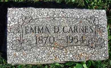 CARNES, EMMA D. - Fairfield County, Ohio | EMMA D. CARNES - Ohio Gravestone Photos