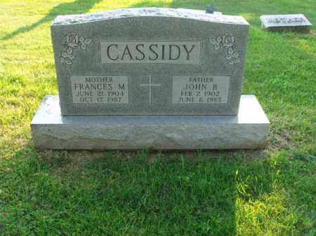 CASSIDY, JOHN B. - Fairfield County, Ohio | JOHN B. CASSIDY - Ohio Gravestone Photos