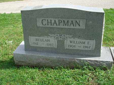CHAPMAN, WILLIAM E. - Fairfield County, Ohio | WILLIAM E. CHAPMAN - Ohio Gravestone Photos