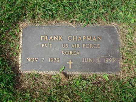 CHAPMAN, FRANK - Fairfield County, Ohio | FRANK CHAPMAN - Ohio Gravestone Photos