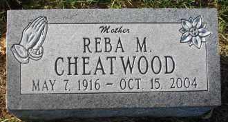 CHEATWOOD, REBA M. - Fairfield County, Ohio | REBA M. CHEATWOOD - Ohio Gravestone Photos