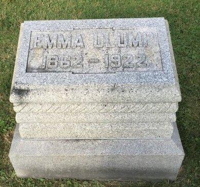 CLUMP, EMMA - Fairfield County, Ohio | EMMA CLUMP - Ohio Gravestone Photos