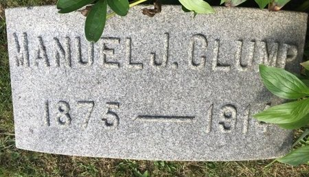 CLUMP, MANUEL J. - Fairfield County, Ohio   MANUEL J. CLUMP - Ohio Gravestone Photos