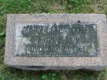 COLE, MARY ELLEN - Fairfield County, Ohio | MARY ELLEN COLE - Ohio Gravestone Photos
