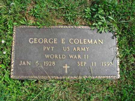 COLEMAN, GEORGE E. - Fairfield County, Ohio | GEORGE E. COLEMAN - Ohio Gravestone Photos