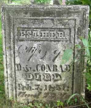 ROOT CONRAD, ESTHER - Fairfield County, Ohio | ESTHER ROOT CONRAD - Ohio Gravestone Photos