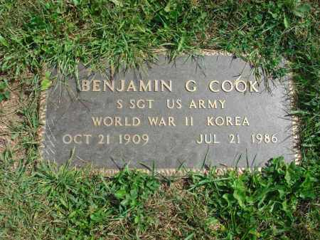 COOK, BENJAMIN G. - Fairfield County, Ohio | BENJAMIN G. COOK - Ohio Gravestone Photos