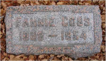 COSS, FANNIE - Fairfield County, Ohio | FANNIE COSS - Ohio Gravestone Photos