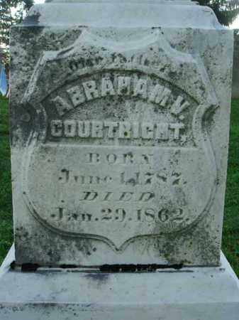 COURTRIGHT, ABRAHAM V. - Fairfield County, Ohio | ABRAHAM V. COURTRIGHT - Ohio Gravestone Photos