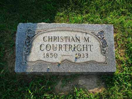 COURTRIGHT, CHRISTIAN M. - Fairfield County, Ohio | CHRISTIAN M. COURTRIGHT - Ohio Gravestone Photos