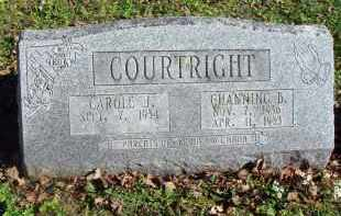COURTRIGHT, CHANNING B. - Fairfield County, Ohio | CHANNING B. COURTRIGHT - Ohio Gravestone Photos
