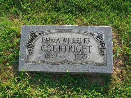WHEELER COURTRIGHT, EMMA - Fairfield County, Ohio | EMMA WHEELER COURTRIGHT - Ohio Gravestone Photos