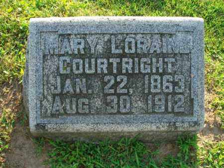 COURTRIGHT, MARY LORAINE - Fairfield County, Ohio | MARY LORAINE COURTRIGHT - Ohio Gravestone Photos