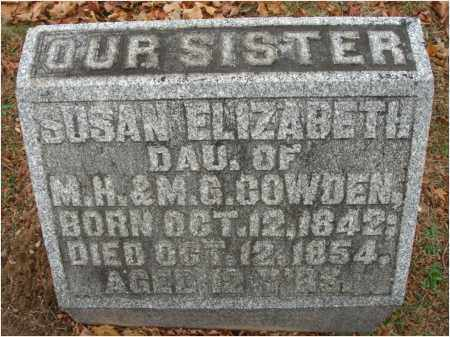 COWDEN, SUSAN ELIZABETH - Fairfield County, Ohio | SUSAN ELIZABETH COWDEN - Ohio Gravestone Photos