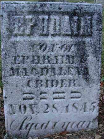 CRIDER, EPHRAIM - Fairfield County, Ohio | EPHRAIM CRIDER - Ohio Gravestone Photos