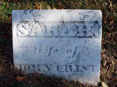 CRIST, SARAH - Fairfield County, Ohio | SARAH CRIST - Ohio Gravestone Photos
