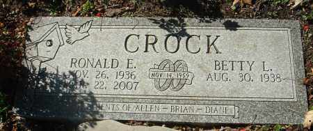 CROCK, RONALD E. - Fairfield County, Ohio | RONALD E. CROCK - Ohio Gravestone Photos