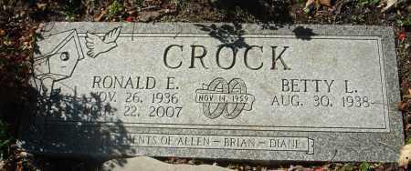 CROCK, RONALD E. - Fairfield County, Ohio | RONALD E. CROCK - Ohio Gravestone Photos