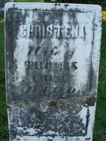 CRUM, CHRISTENA - Fairfield County, Ohio | CHRISTENA CRUM - Ohio Gravestone Photos