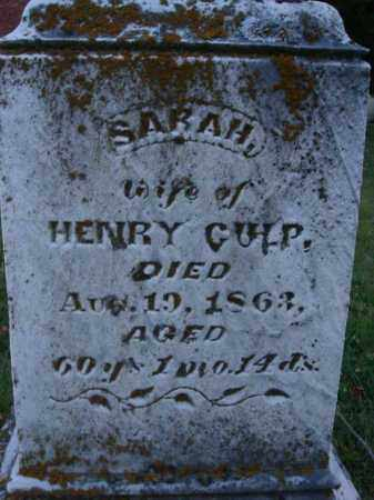 CULP, SARAH - Fairfield County, Ohio | SARAH CULP - Ohio Gravestone Photos