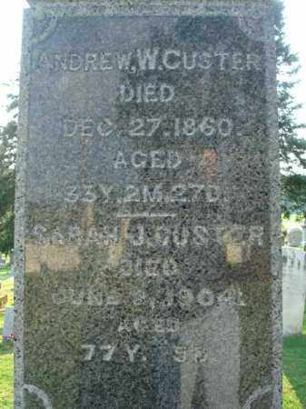 CUSTER, ANDREW W. - Fairfield County, Ohio | ANDREW W. CUSTER - Ohio Gravestone Photos