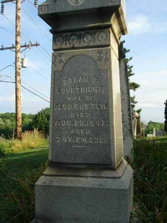 COURTRIGHT CUSTER, SARAH - Fairfield County, Ohio | SARAH COURTRIGHT CUSTER - Ohio Gravestone Photos
