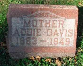 DAVIS, ADDIE - Fairfield County, Ohio | ADDIE DAVIS - Ohio Gravestone Photos