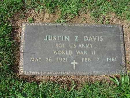 DAVIS, JUSTIN Z. - Fairfield County, Ohio | JUSTIN Z. DAVIS - Ohio Gravestone Photos