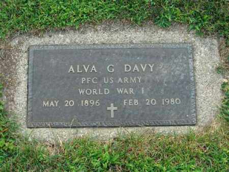 DAVY, ALVA G. - Fairfield County, Ohio | ALVA G. DAVY - Ohio Gravestone Photos