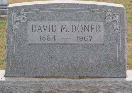 DONER, DAVID M - Fairfield County, Ohio | DAVID M DONER - Ohio Gravestone Photos