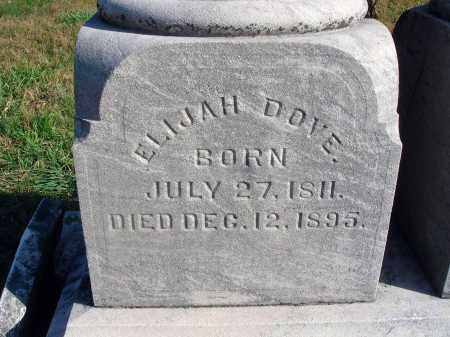 DOVE, ELIJAH - Fairfield County, Ohio | ELIJAH DOVE - Ohio Gravestone Photos
