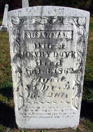 DOVE, SUSANNAH - Fairfield County, Ohio | SUSANNAH DOVE - Ohio Gravestone Photos