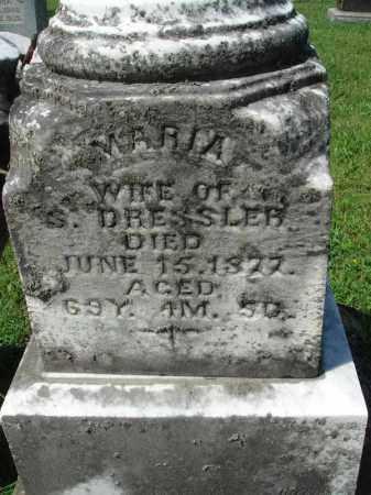 DRESSLER, MARIA - Fairfield County, Ohio | MARIA DRESSLER - Ohio Gravestone Photos