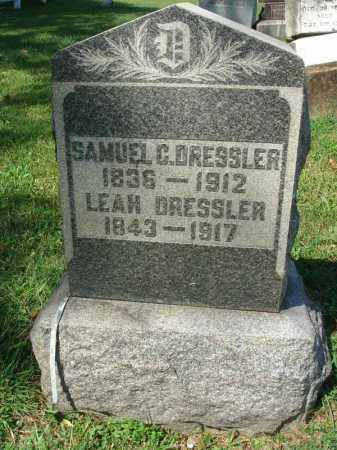 DRESSLER, LEAH - Fairfield County, Ohio | LEAH DRESSLER - Ohio Gravestone Photos
