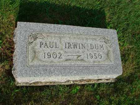 DUM, PAUL IRWIN - Fairfield County, Ohio | PAUL IRWIN DUM - Ohio Gravestone Photos