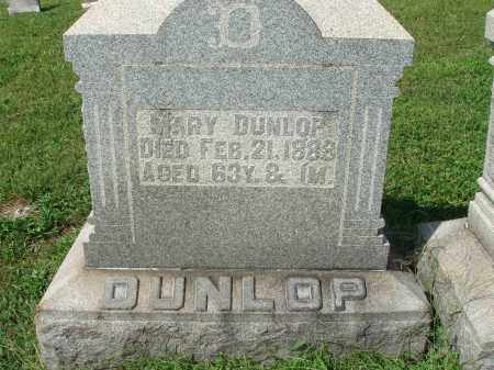 DUNLOP, MARY - Fairfield County, Ohio | MARY DUNLOP - Ohio Gravestone Photos