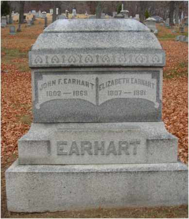EARHART, ELIZABETH - Fairfield County, Ohio | ELIZABETH EARHART - Ohio Gravestone Photos