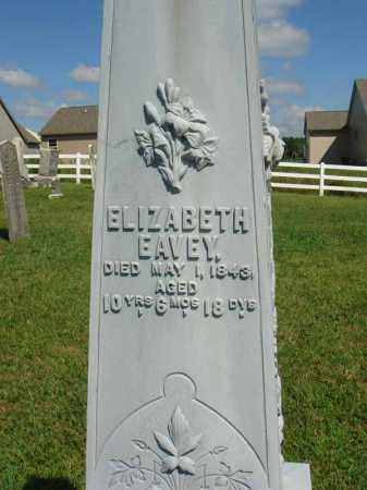 EAVEY, ELIZABETH - Fairfield County, Ohio | ELIZABETH EAVEY - Ohio Gravestone Photos