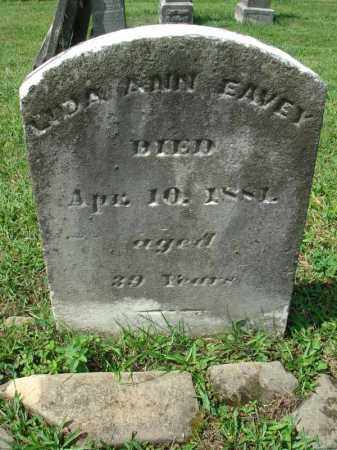 EAVEY, LIDA ANN - Fairfield County, Ohio | LIDA ANN EAVEY - Ohio Gravestone Photos