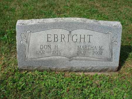 EBRIGHT, DON H. - Fairfield County, Ohio | DON H. EBRIGHT - Ohio Gravestone Photos