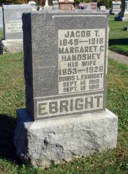 HANDSHEY EBRIGHT, MARGARET C. - Fairfield County, Ohio | MARGARET C. HANDSHEY EBRIGHT - Ohio Gravestone Photos