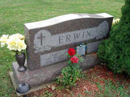 ERWIN, JANET - Fairfield County, Ohio | JANET ERWIN - Ohio Gravestone Photos