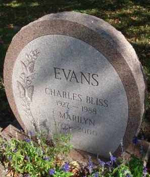 EVANS, CHARLES BLISS - Fairfield County, Ohio | CHARLES BLISS EVANS - Ohio Gravestone Photos