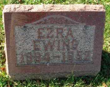 EWING, EZRA - Fairfield County, Ohio   EZRA EWING - Ohio Gravestone Photos