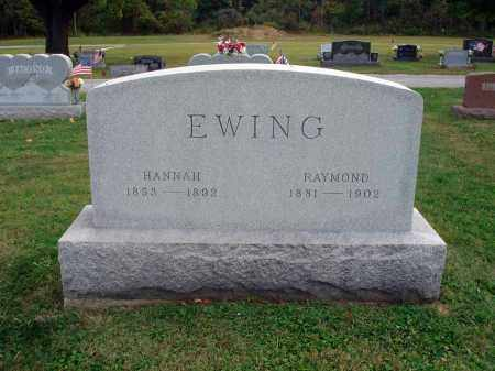 EWING, HANNAH - Fairfield County, Ohio | HANNAH EWING - Ohio Gravestone Photos